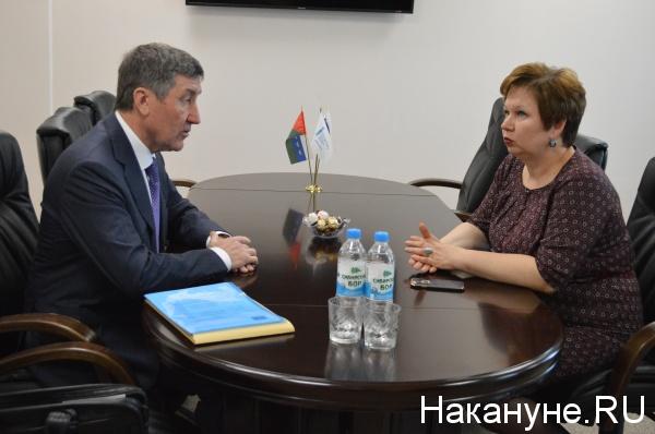 С исполняющей обязанности ректора ТИУ Вероникой Ефремовой, Тюмень, 15 мая 2017 г.