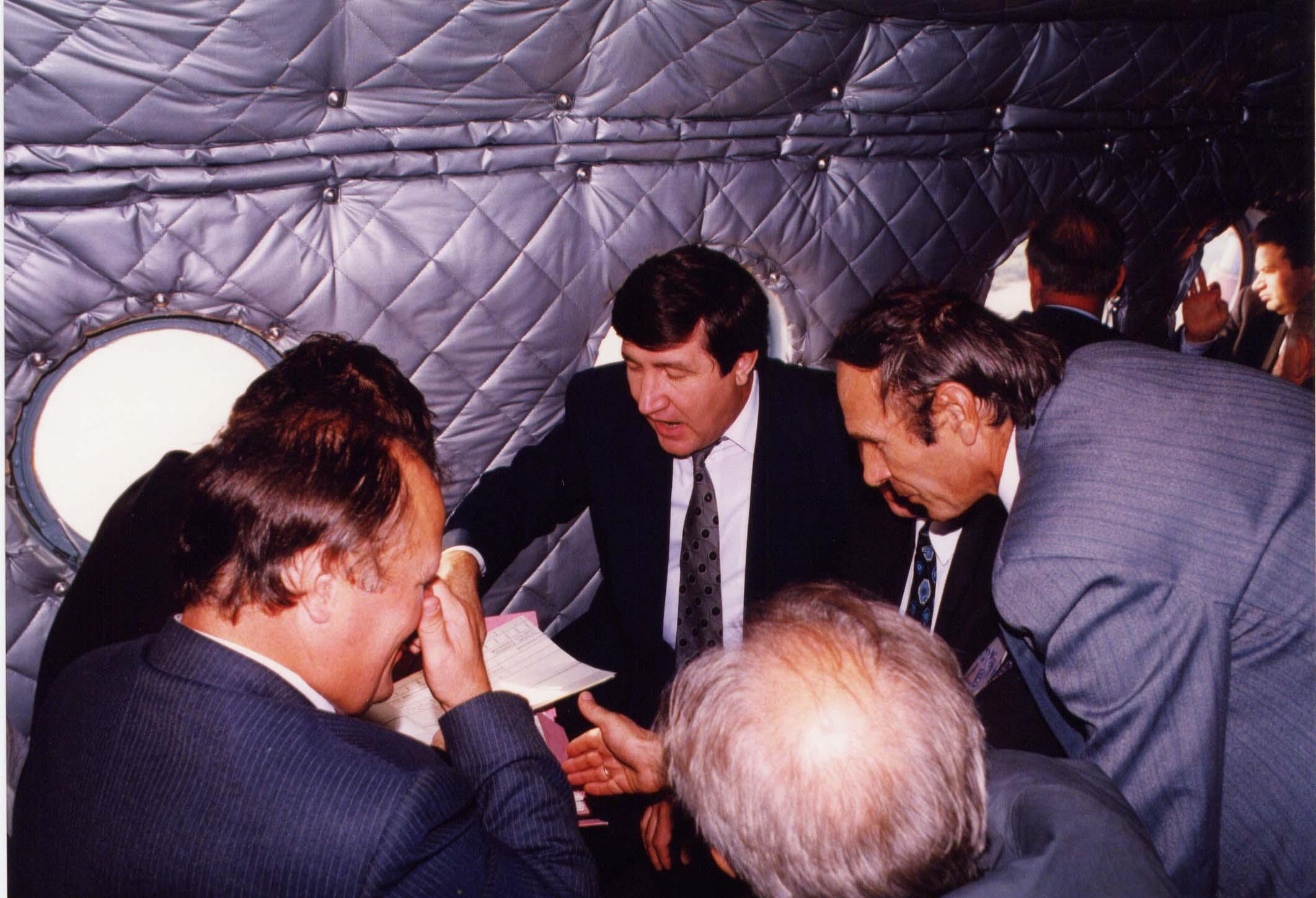 В вертолете над Кузбассом; 1993 г.