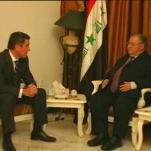 С президентом Ирака Джалялем Талабани; октябрь 2008 г.