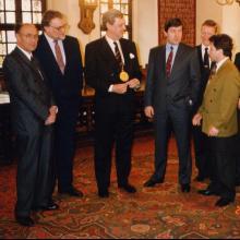 На конференции в США; 1993 г.